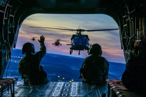 Army helicopter lands in Winnsboro, to spectators' delight